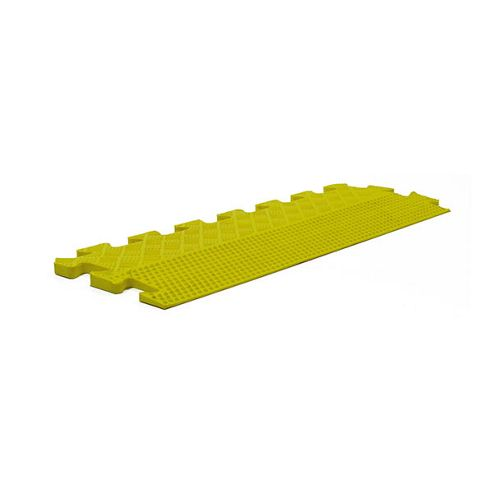 Bodymax Rubber Interlocking Floor Mats - Yellow Tapered Edge Strip - 500mm x 185mm x 12mm tapered