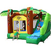Jungle Climb and Slide Bouncy Castle