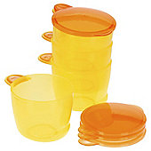 VITAL BABY      FOOD POTS       ORANGE X 4