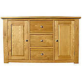 Home Zone Furniture Lincoln Oak 2009 Three Drawer Sideboard