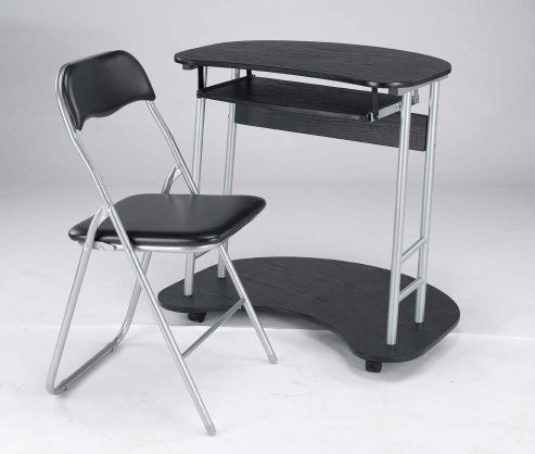 Home Zone Office Folding Chair in Black