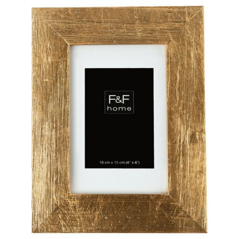 F&F home gold scratch effect frame 4x6