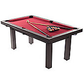 The Amalfi Black Pool Dining Table (With Red Cloth)