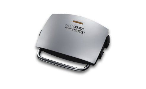 George Foreman 14181 Four Portion Family Grill & Melt, Silver