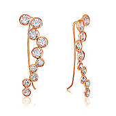 Rose gold plated ear cuff with crystal wave