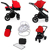 ickle bubba Stomp V2 AIO Travel System with Safety Mosquito Net - Black (Black Chassis)