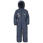 Trespass Kids DripDrop All In One Padded Waterproof Rain Suit - Navy