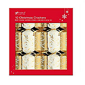 Anker Christmas Crackers - Gold & Cream - Pack of 10