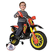 Moto Cross 6V Ride-On Scrambler With Helmet