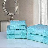 Dreamscene Luxury Egyptian Cotton 6 Piece Bath Towel Set - Aqua