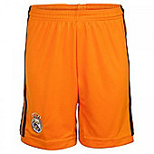 2013-14 Real Madrid Adidas 3rd Shorts (Orange) - Orange