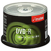 Imation DVD-R 4.7 GB 16x Disc, 50-pack