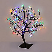 45cm Cherry Blossom Tree Table Lamp with 72 Multi Coloured LEDs