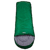Summit 250 Square Sleeping Bag - Green - Right zip