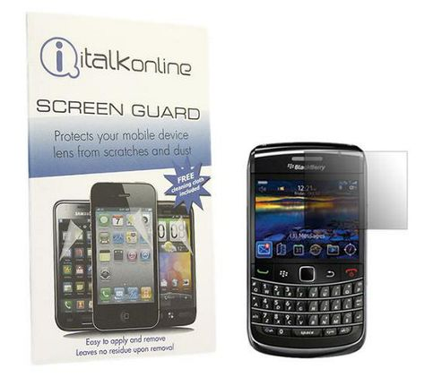 iTALKonline S-Protect LCD Screen Protector and Cleaning Cloth - For BlackBerry 9700 Bold, 9780 Onyx
