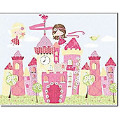 Fairy Castle Canvas Wall Art, 40 x 50 cm