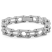 Urban Male Polished Stainless Steel Chain Link Bracelet For Men