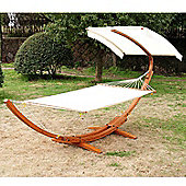 Outsunny Garden Wooden Stand Half Roof Sunshade Canopy