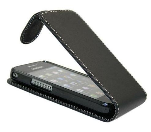 iTALKonline 18046 FlipMatic Easy Clip On Vertical Pouch Case Black - For  S5830 Galaxy Ace