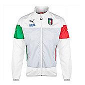 2014-15 Italy Puma Leisure Jacket (White) - White