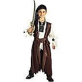 Child Caribbean Pirate King Costume Medium