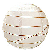 Loxton Lighting Irregular Bamboo Paper Lantern in White - 60cm