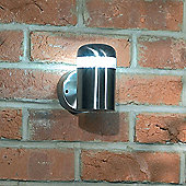 Endon Lighting Large Wall Lantern in Stainless Steel