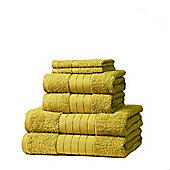 Dreamscene Luxury Egyptian Cotton 6 Piece Bath Towel Set - Lime
