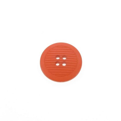 Dill Buttons 25mm Ribbed Terracotta