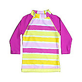 Banz 'Sun Blossom' Long Sleeved UV Rash Top - Pink - Multi