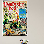 Comic Book Cover Fantastic Four Wall Stickers