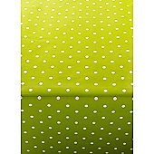 Polka Dot Green 250cm x 135cm Oilcloth Tablecloth