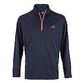 Woodworm Golf Mens 1/4 Zip Pullover / Sweater / Jumper - Blue