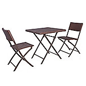 Palm Springs Garden Furniture Rattan Wicker Folding Bistro Set W/ Chairs, Table