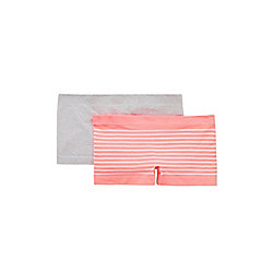 F&F 2 Pack of Seamfree Shorts M Pink/Grey