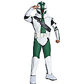 Child Deluxe Clone Trooper Costume (Green) Medium