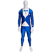 Morphsuit Tuxedo Blue - Adult Costume Size: 34-36