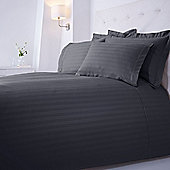 Luxury Hotel Collection Dobby Stripe Housewife Pillowcase Pair Slate