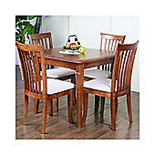 G&P Furniture Windsor House 5-Piece Lincoln Extending Dining Set - Cherry