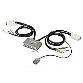 Edimax EK-2U2CA 2 Port USB KVM Switch with Cables and Audio Support