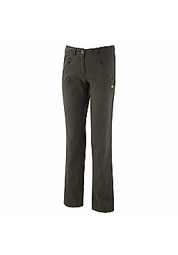 Craghoppers Ladies Kiwi Pro Stretch Hiking Trousers - Green