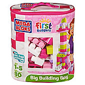 Mega Bloks First Builders Pink 80-Piece Big Building Bag