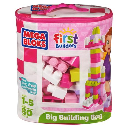 MEGABLOKS First Builders Pink 80pc bag