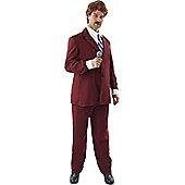 Ron Burgundy Anchorman Costume Standard