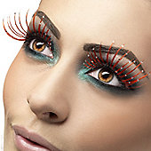 Smiffy's - Eyelashes - Red with Glitter