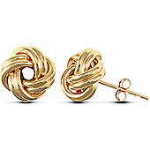 Jewelco London 9ct Yellow gold Knot Studs