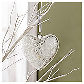 Tesco Large Glass Heart Hanging Decoration