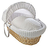 Clair de Lune Natural Wicker Moses Basket (Marshmallow White)
