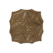 Gold Geometric Beaded Placemats X2