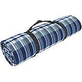 Yellowstone Fleece Waterproof Travel Rug Blue